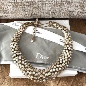 Christian Dior Mise En Dior Pearl Crystal Necklace